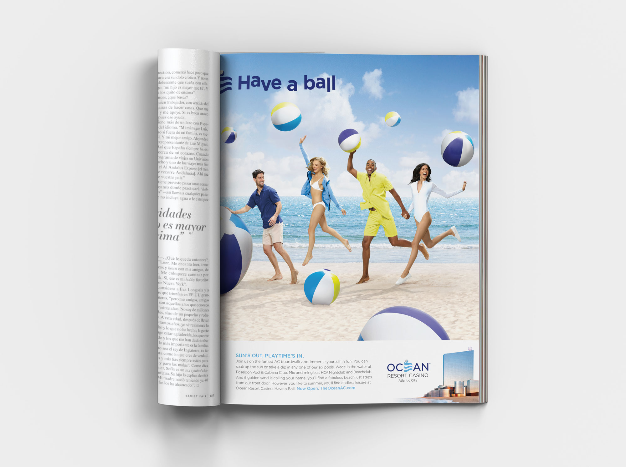 Beach ball ad