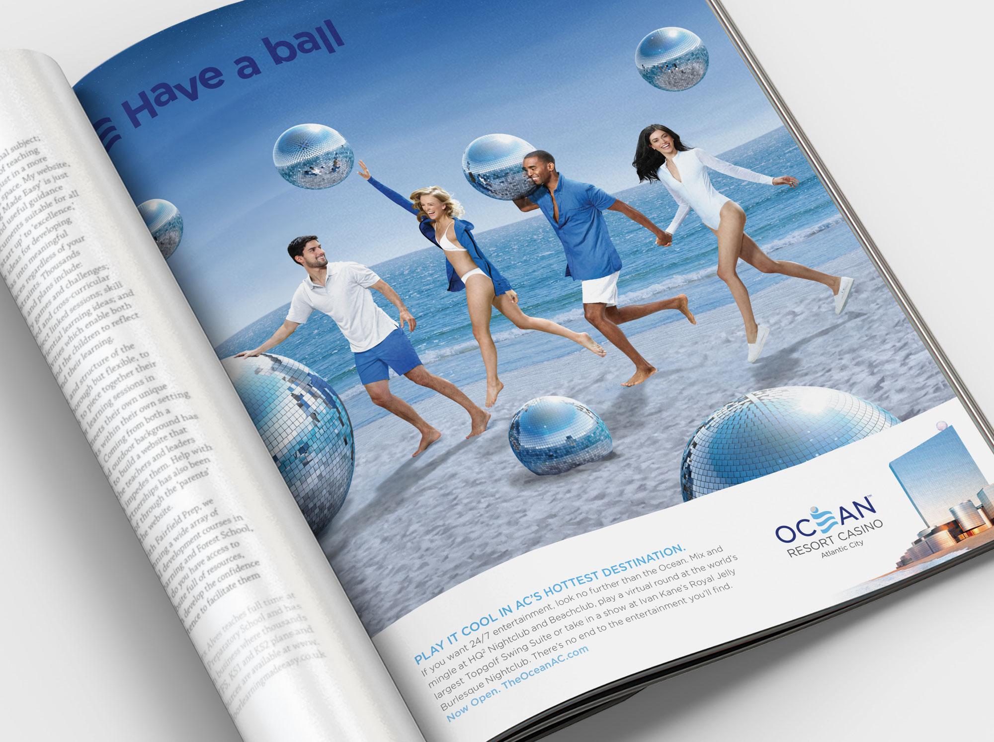 Disco ball ad