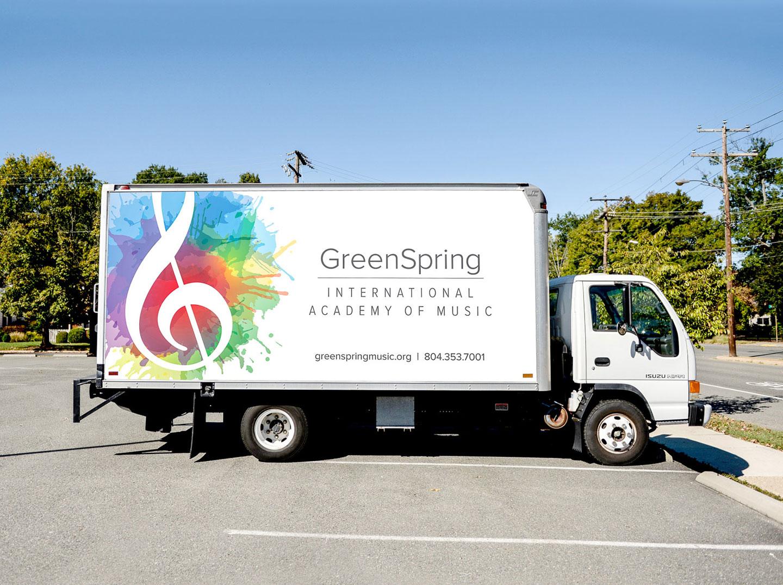 logo on truck