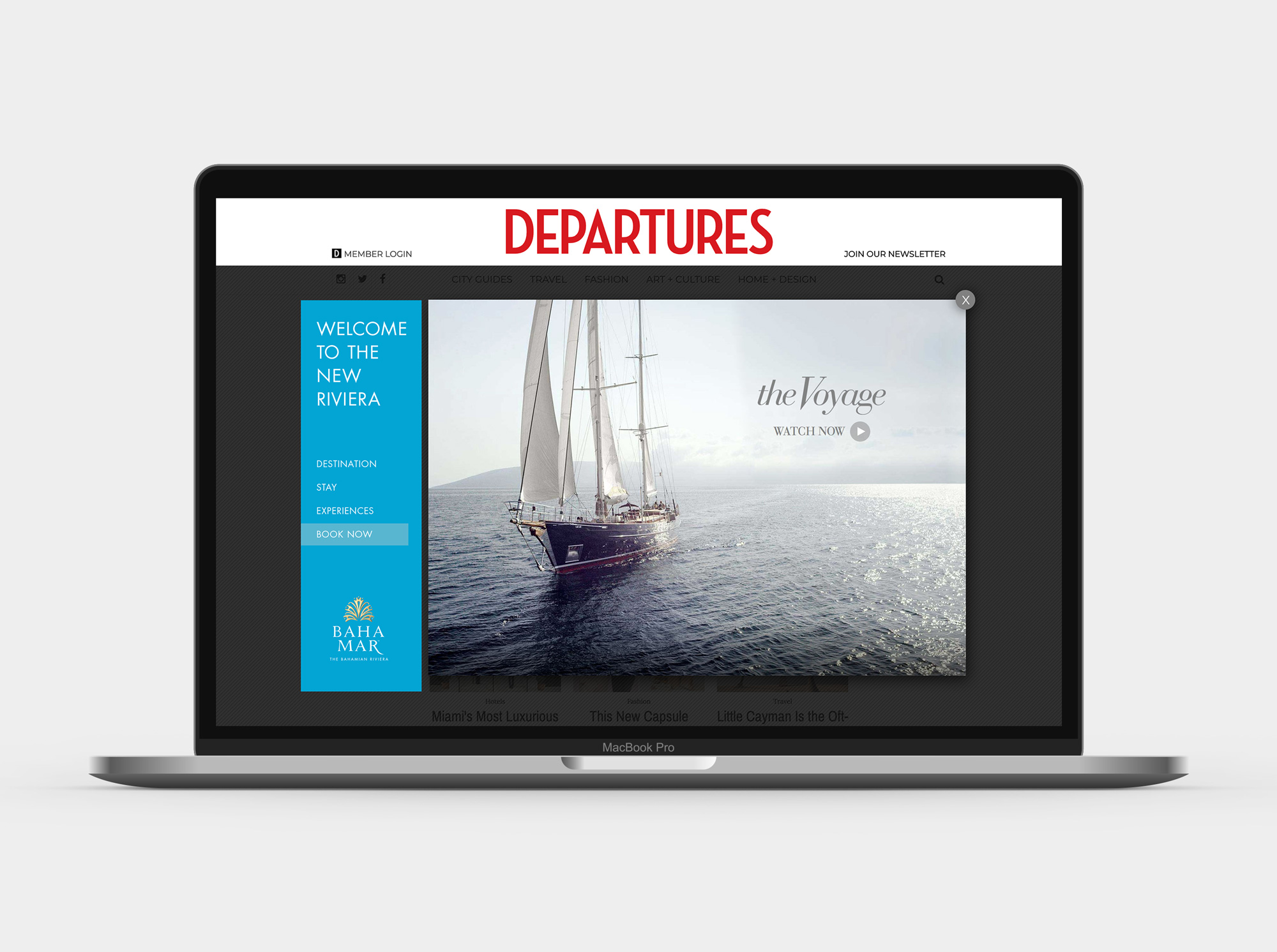 Film on Departures website