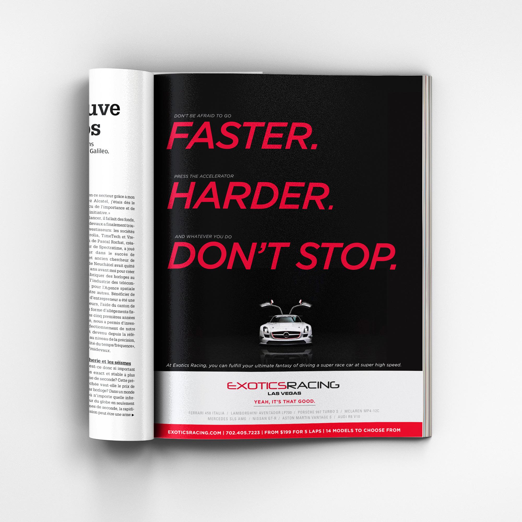 Magazine ad - faster
