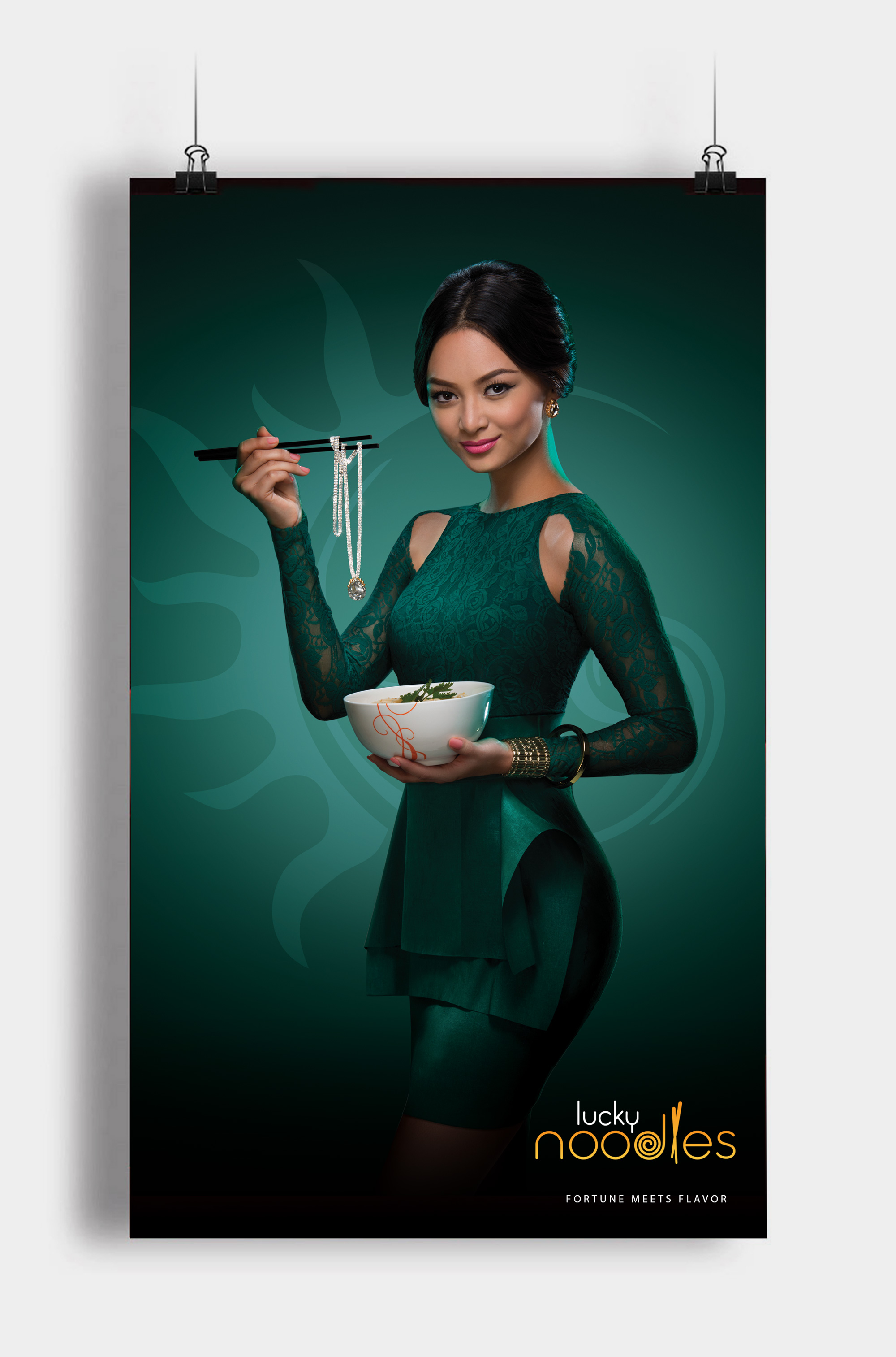 Lucky Noodles restaurant poster