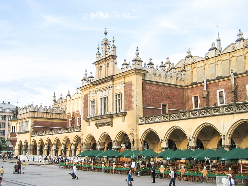 Square in Krakow, Poland