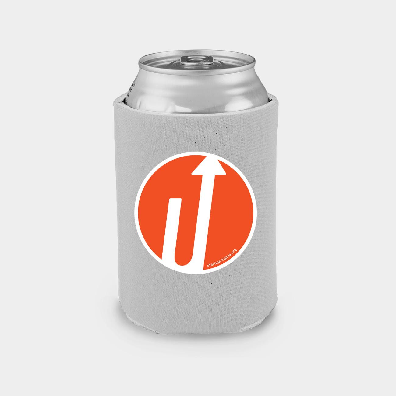 Beer koozie with logo