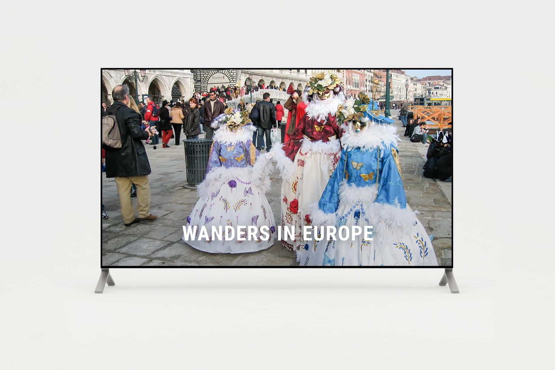 Short film of wanders in Europe