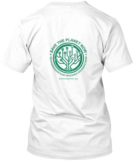 Earth Day Everyday T back white