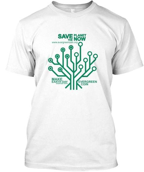 Earth Day Everyday T front white