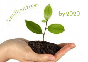 2 million tress by 2020