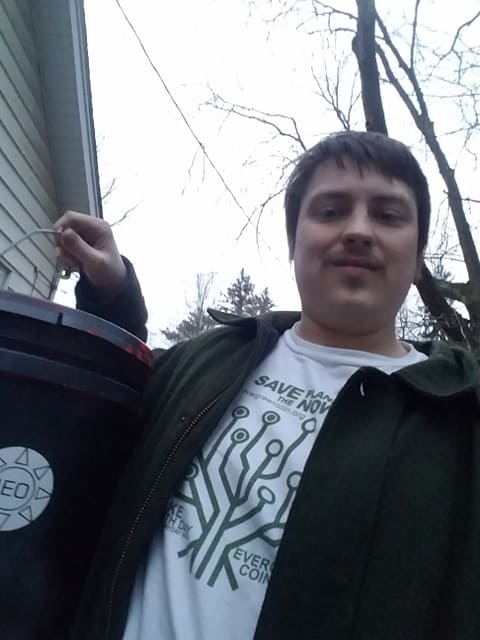 James and his compost