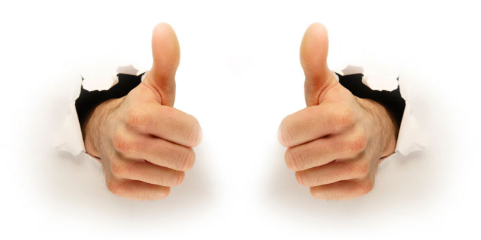 two thumbs up evergreen
