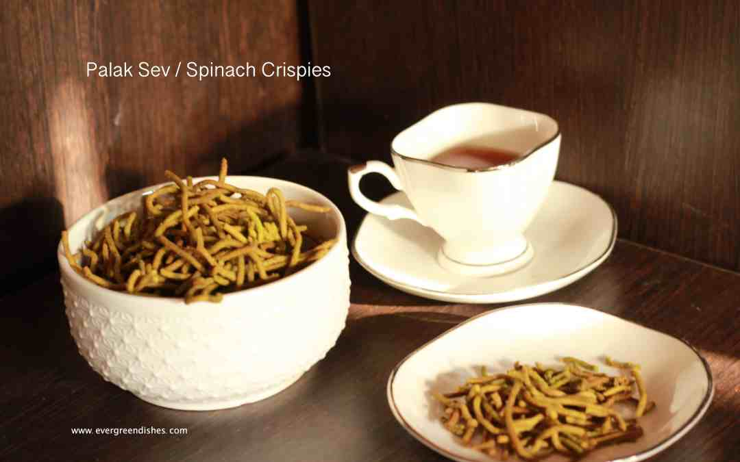 Palak Sev | Spinach Crispies | Namkeen Snack for Diwali