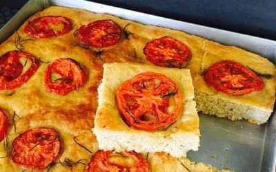Tomato and Garlic Focaccia – Guest Post Series