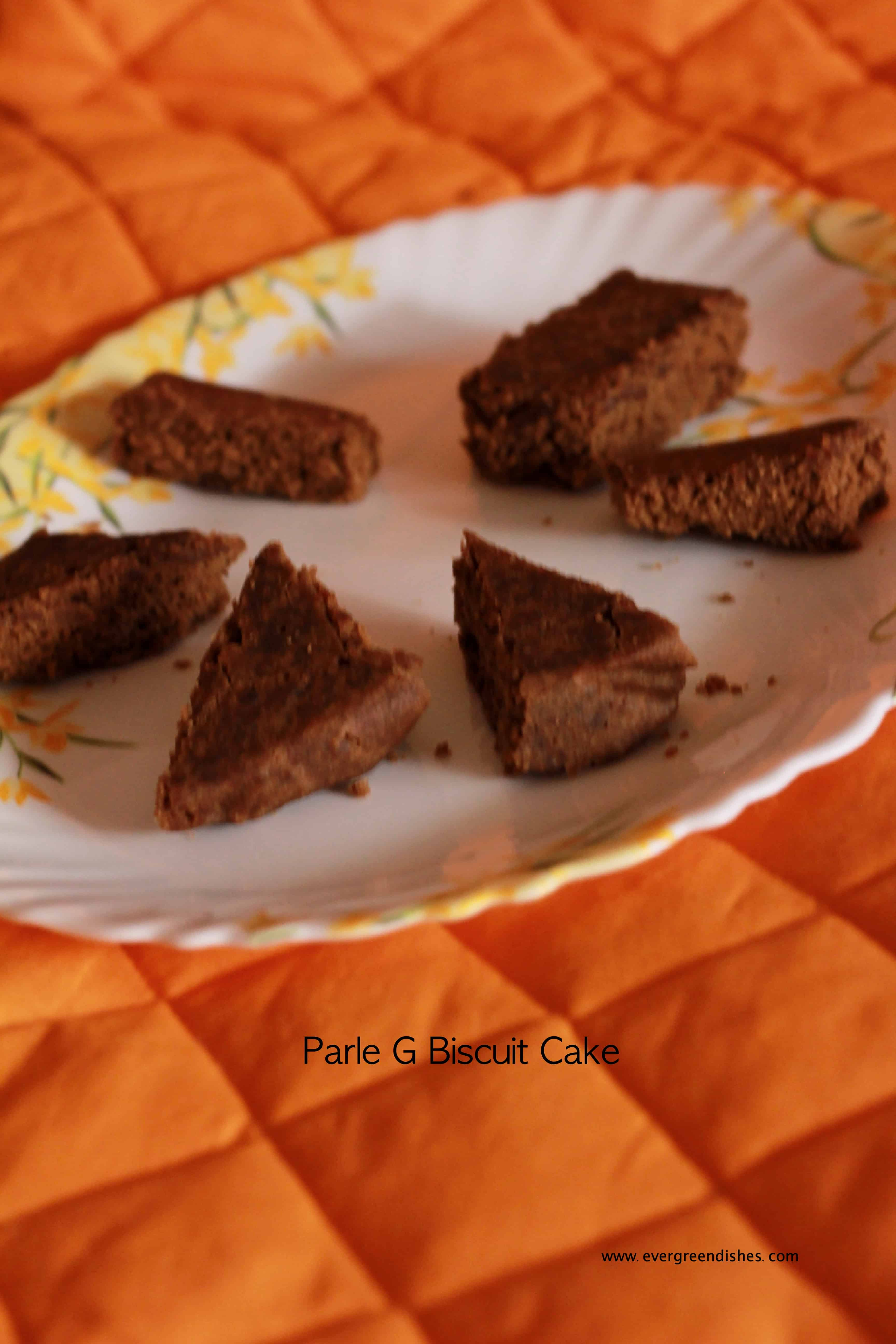 Parle G biscuit cake