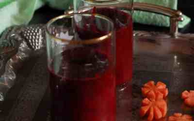 Cantaloupe  Carrot and Beetroot smoothie