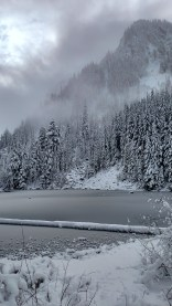 Goat Lake - I have yet to visit this lake when I can actually see the mountains at the far end of the lake