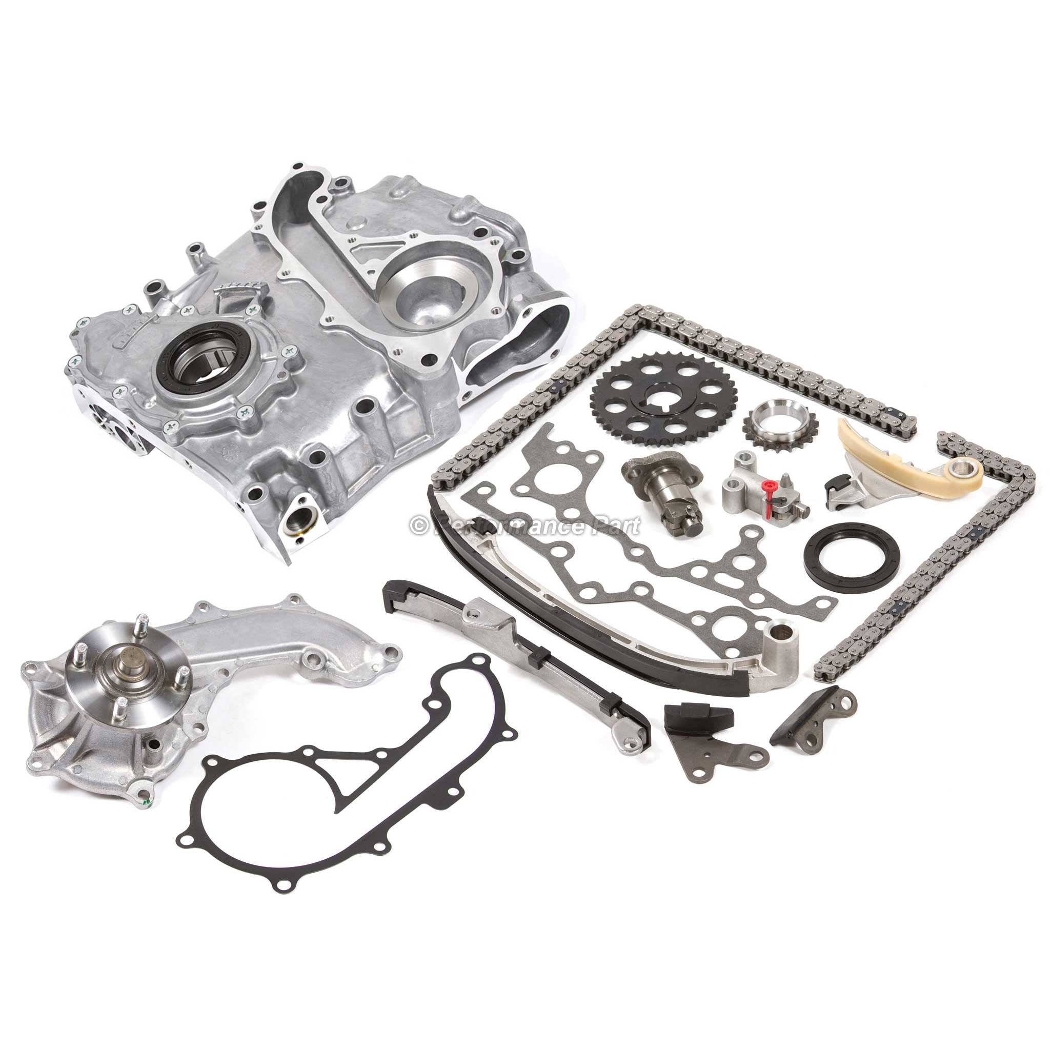 Timing Chain Cover Water Pump Oil Pump Kit Toyota 2 7l 3rzfe T100 Tacoma 4runner