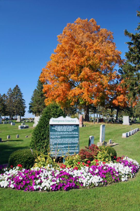 North Entrance to Evergreen Cemetery