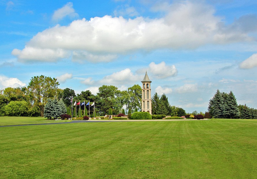 view of Carillon Bell Tower from west side