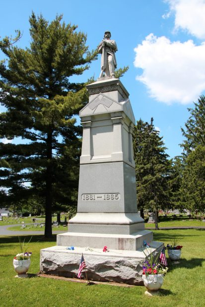 view of Civil War Monument from east side
