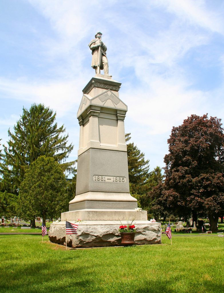 Soldier's Memorial Monument on Memorial Day