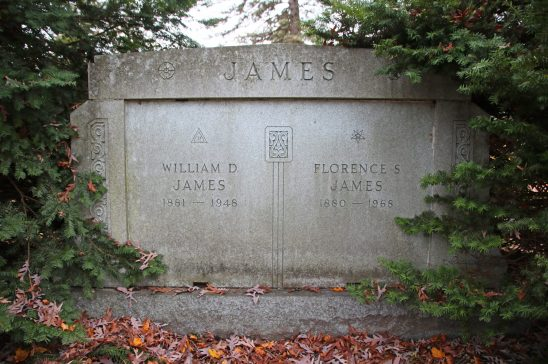 W.D. James Mausoleum in fall