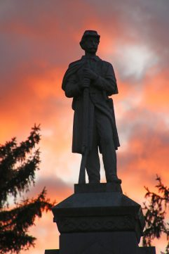 The Soldiers Monument at Sunset