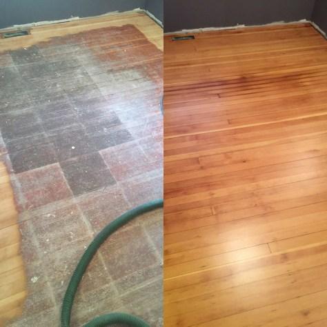 Before/After - fir hardwood floor refinish