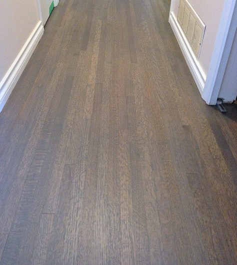 Blue-grey oak floor