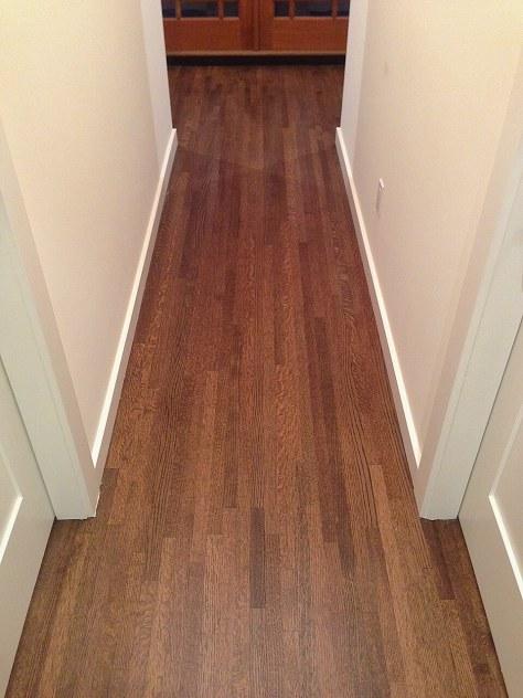 AFTER - oak hardwood floor repair