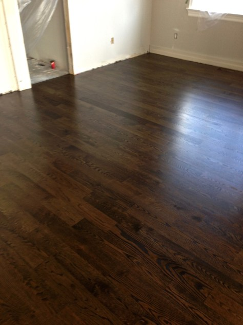 AFTER - oak hardwood floor refinish