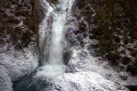Bridal Veil Falls in snow