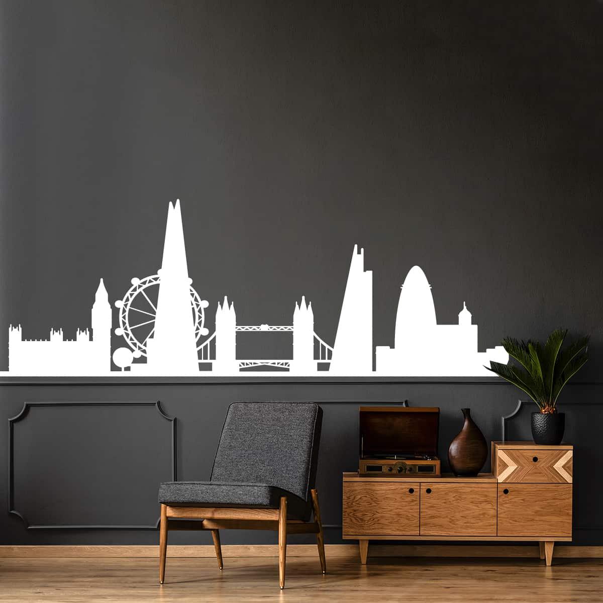 Decora le pareti della tua casa con i bellissimi adesivi murali monocolore di i&d! Evergreen Orange New York Skyline