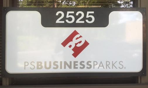 Business park signage can be customized to match your branding.