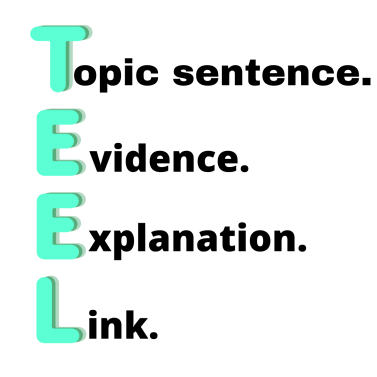 TEEL Topic sentence. Evidence. Explanation Link