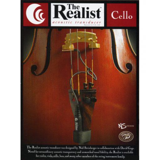 Realist Acoustic Cello Pickup 1/4 Plug