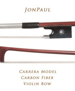 JonPaul Carrera Model Silver-Mounted Carbon Fiber 4/4 Violin Bow