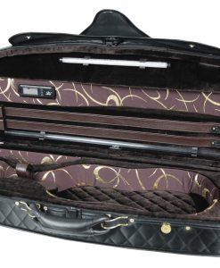 Pedi Model 8300 4/4 Violin Case - Black/Dark Brown