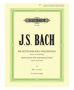 Bach Six Suites for Solo Violoncello Edition for Double Bass Stirling Edition Peters 238b