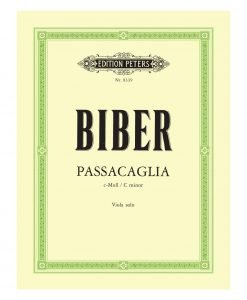 Heinrich Biber Passacaglia in C Minor Viola Solo 8339 Edition Peters