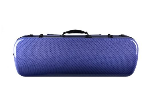 Tonareli Oblong Viola Case Blue Checkered VAFO1005 Top