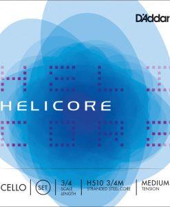 D'Addario Helicore 3/4 Cello String Set