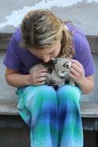 Farrah and kittens