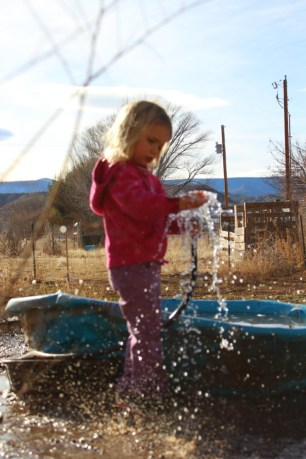 ember-playing-with-the-hose-in-december
