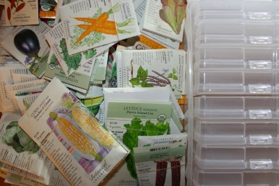 2017 Kitchen Garden - Seed Organization