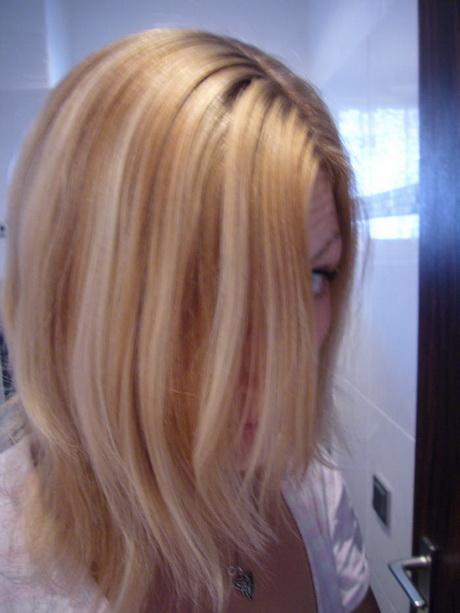 Blondierte haare dunkler frben