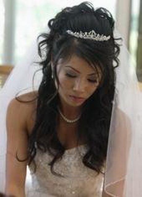 Brautfrisur lange haare locken