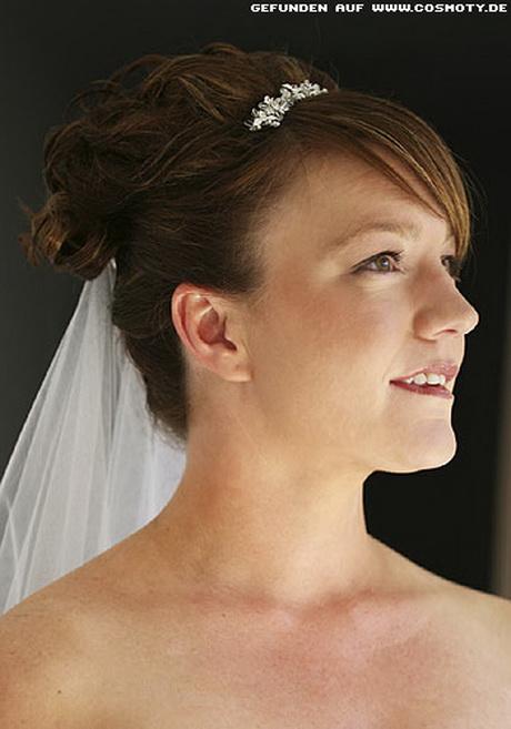 Brautfrisuren kurze haare mit schleier