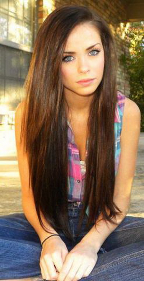 Frisuren sehr lange haare