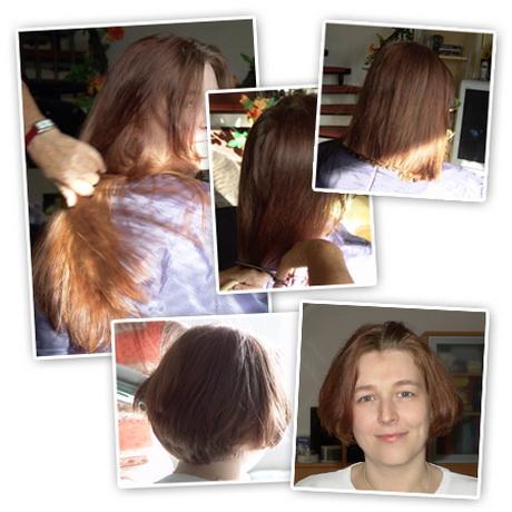 Lange haare kurz schneiden