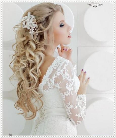 Brautfrisur lange haare offen